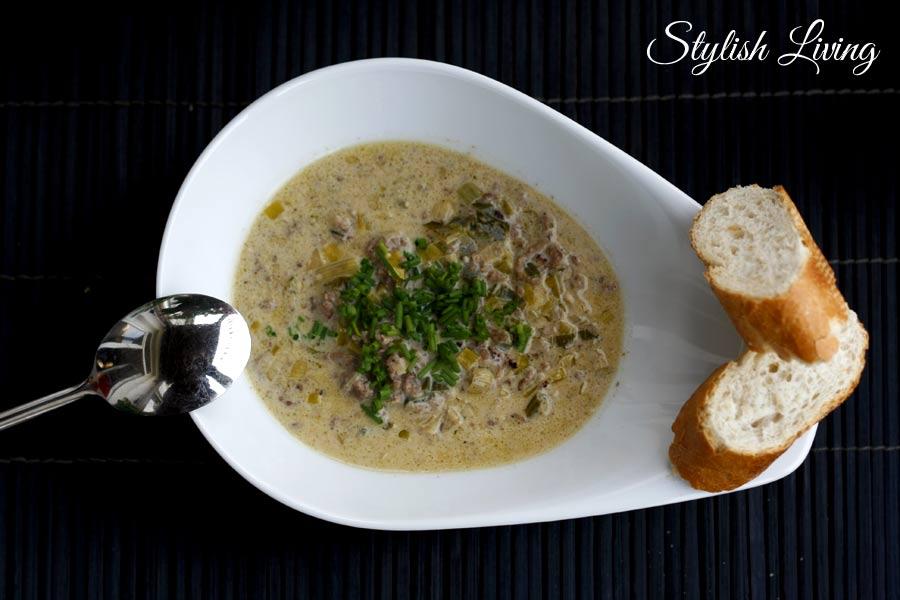 Hack-Lauchcreme-Suppe