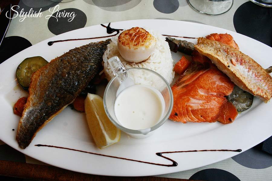 Fischplatte im Restaurant À Contre Courant