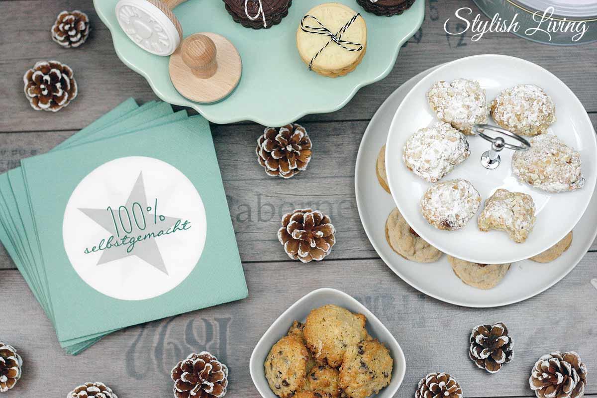 Sweet Table mit Weihnachtsplätzchen