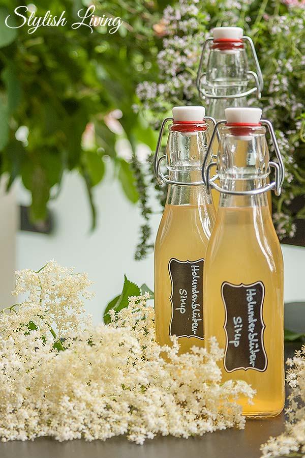 Holunderblütensirup ohne Zitronensäure