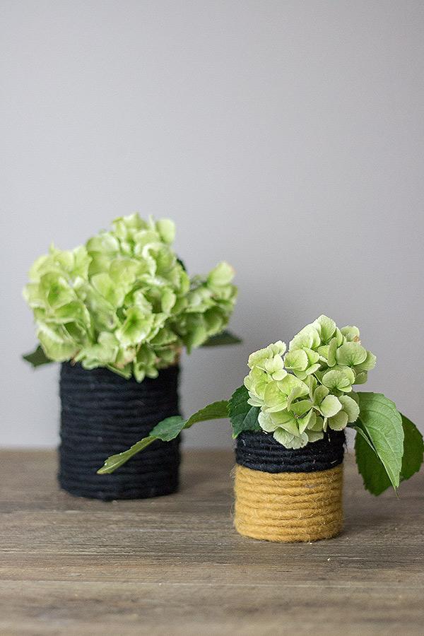 DIY-Blumenvase aus Konservendose