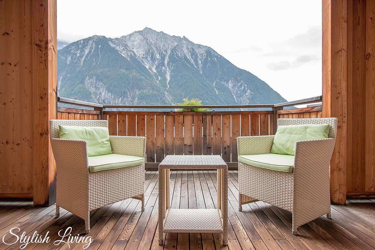 Balkon Zimmer Arcana im Moosmair
