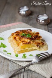 Lasagne mit Steckrübe und Lauch