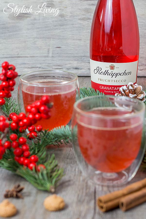 Rotkäppchen Fruchtsecco Granatapfel als Winterpunsch