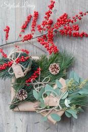 Geschenke unterschiedlich verpacken mit Naturmaterialien