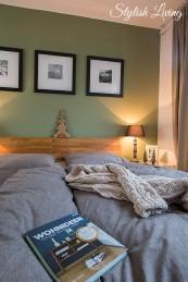 Schlafzimmer mit Bettwäsche von Auping