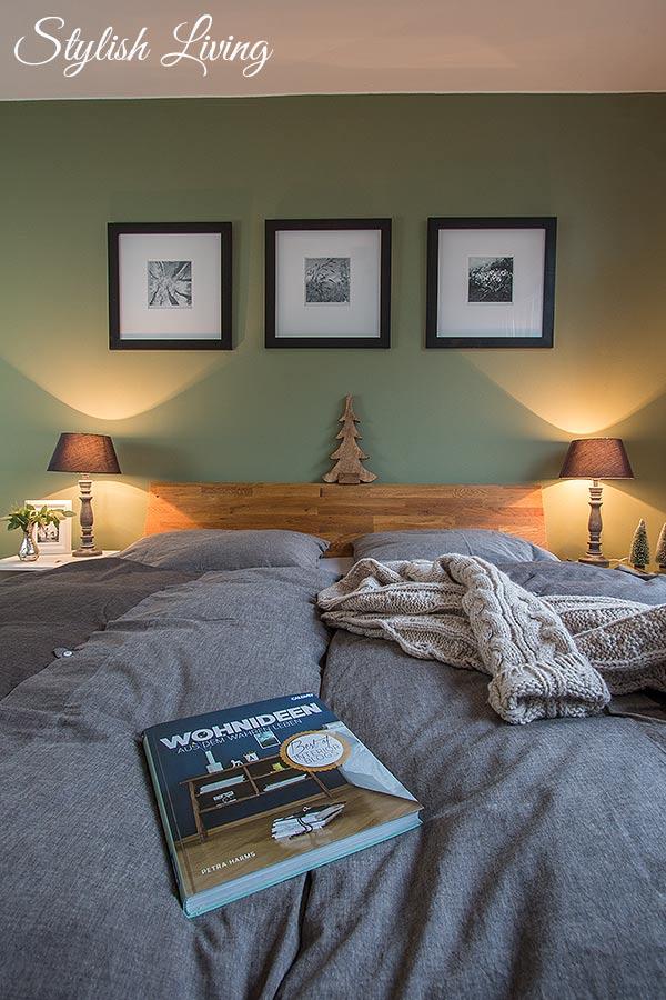 gemütliches Schlafzimmer in Naturtönen