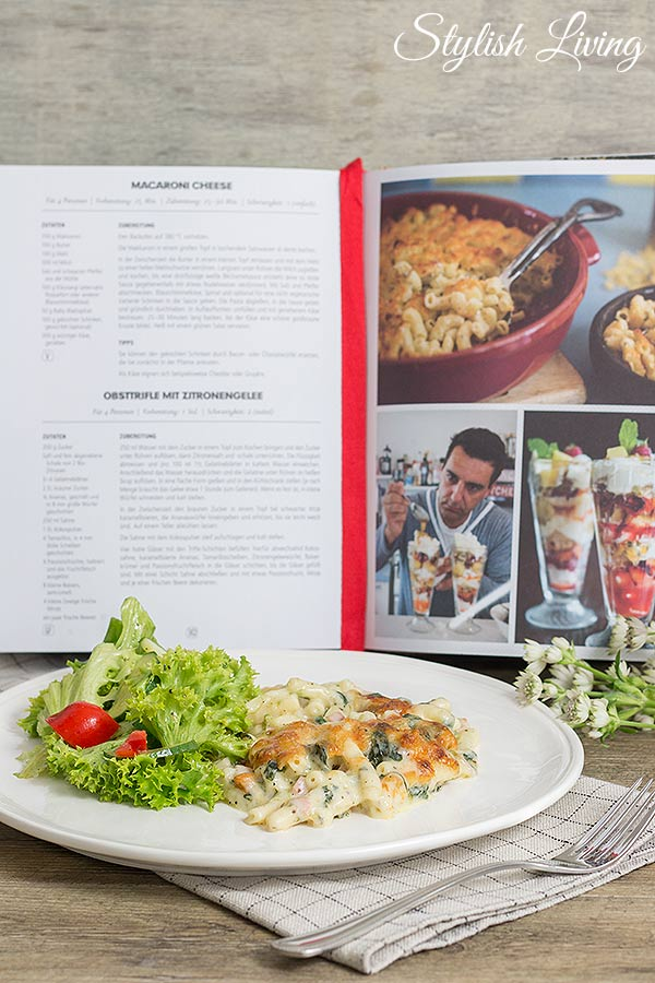 Macaroni Cheese mit frischem Salat