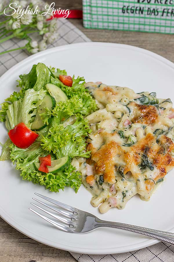 Macaroni and Cheese mit Roquefort