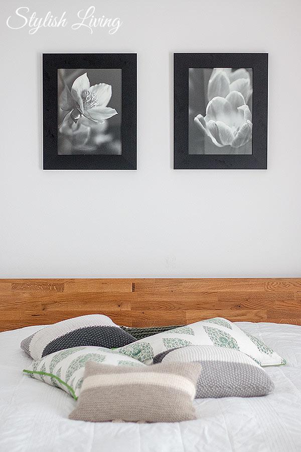 schwarz-weiß Bilder im Schlafzimmer