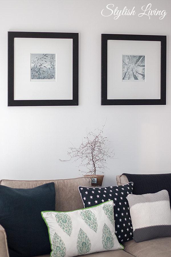 schwarz-weiß Bilder im Wohnzimmer