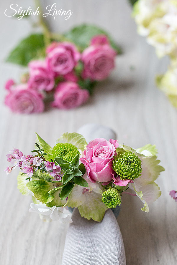 DIY Serviettenringe mit Blumen