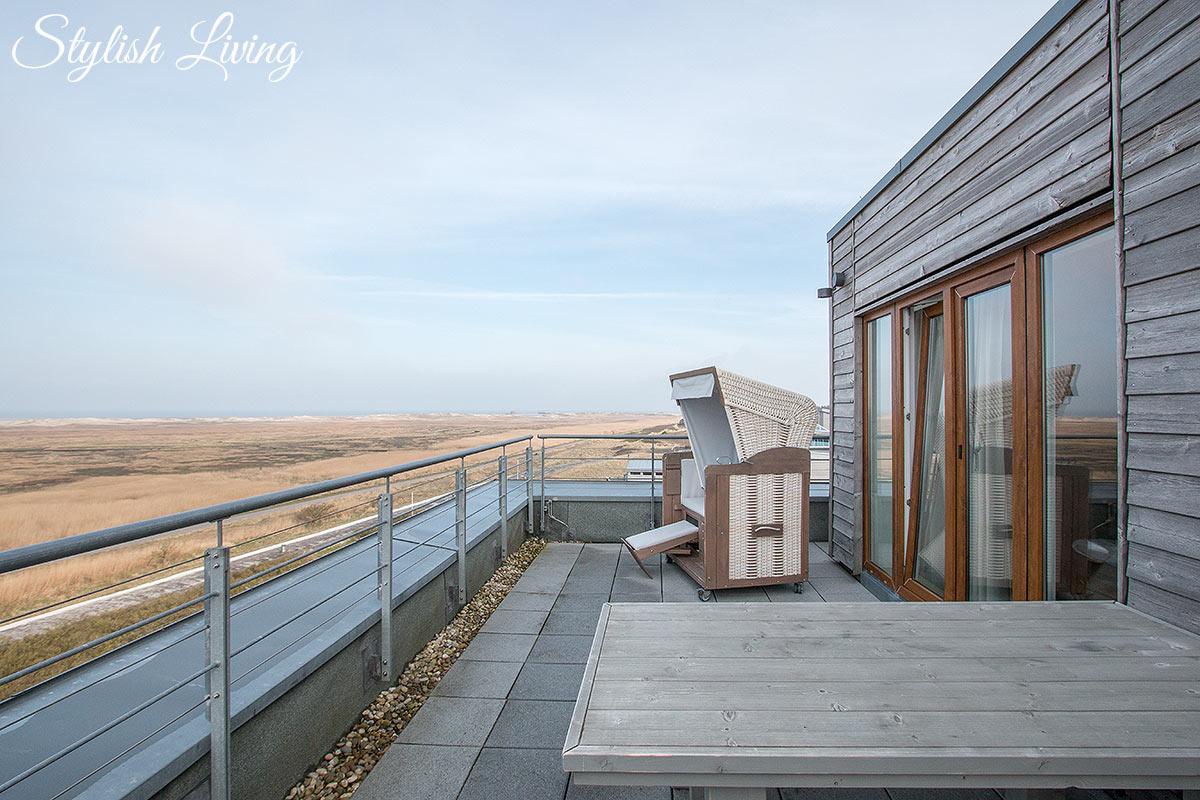 Dachterrasse der Suite vom Strandgut
