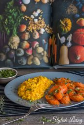 Geschmorte Karotten mit Safranrisotto aus dem vegetarischen Kochbuch von Barbara Bonisolli