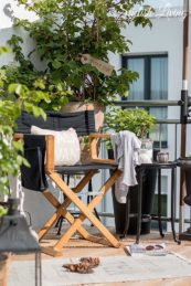 stylischer Balkon im beach look