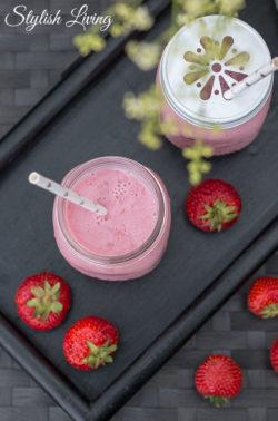 Erdbeermilch mit Buttermilch