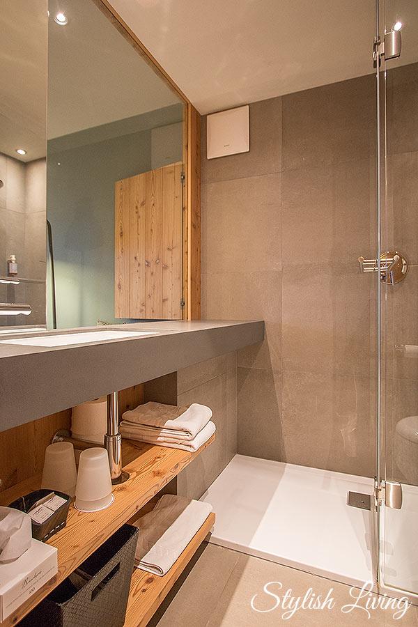 Badezimmer Icaro Vitalpina Hotel