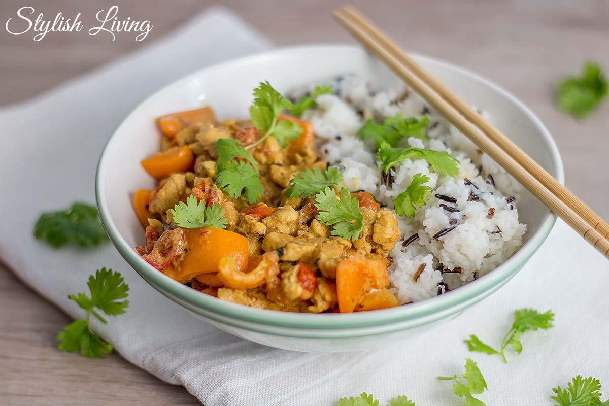 Hühnchenhackfleisch-Curry nach Madhur Jaffrey