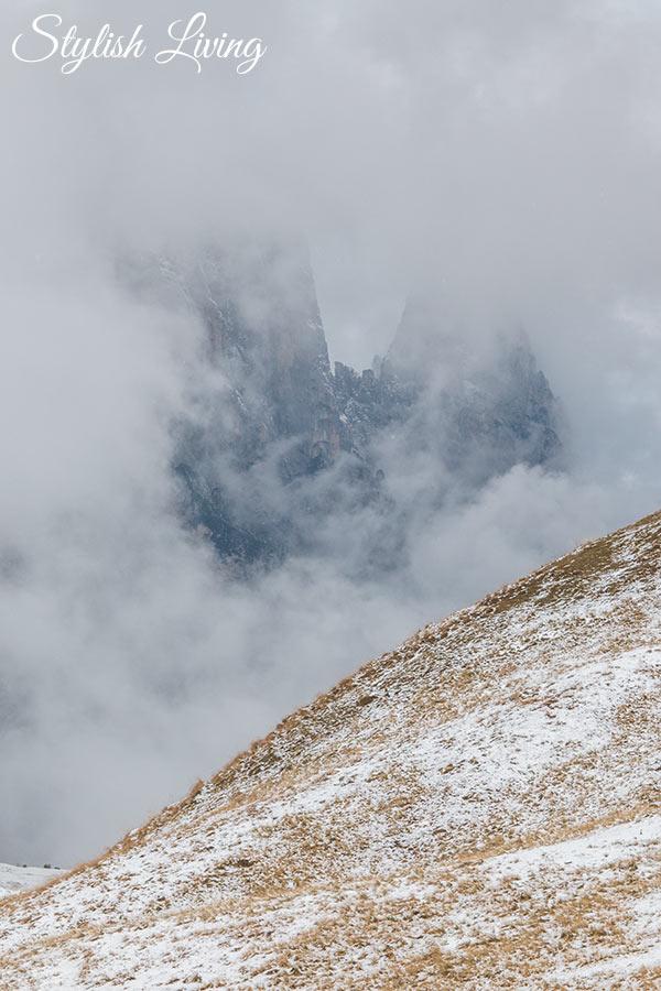 Wanderung zur Tierser Alpl Hütte wolkenverhangen
