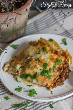 oberleckere Lasagne mit Bechamelsauce