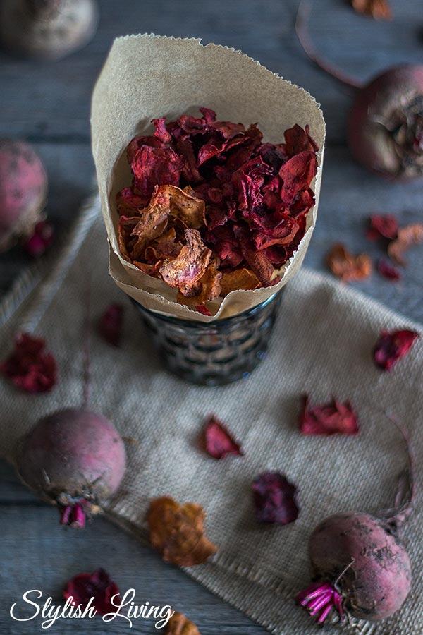 Rote Bete Chips mit Byodo Apfelessig selbst gemacht