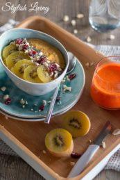 Smoothie Fruit Bowl mit Mango und Kiwi
