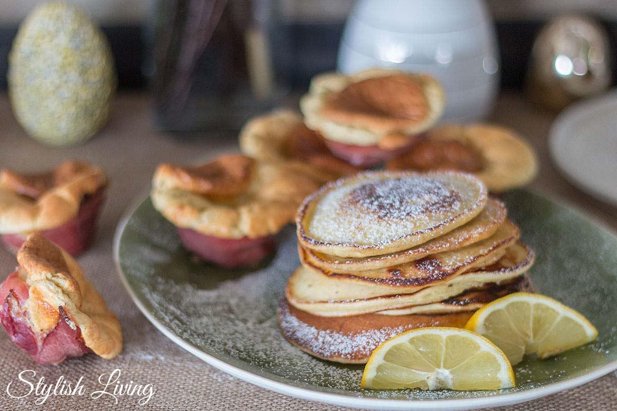 Last-Minute-Osterbrunch-Rezepte: Pancakes und Mini-Käse-Soufflés
