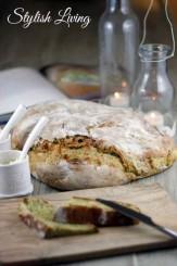 Zucchinibrot mit Ziegenkäse nach dem Rezept von Jamie Oliver.