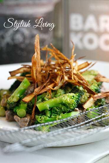 Brokkoli mit Ingwer und Rinderfilet