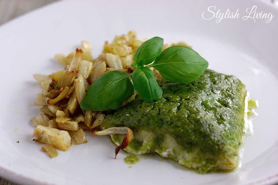 Fisch mit Pesto und Fenchel