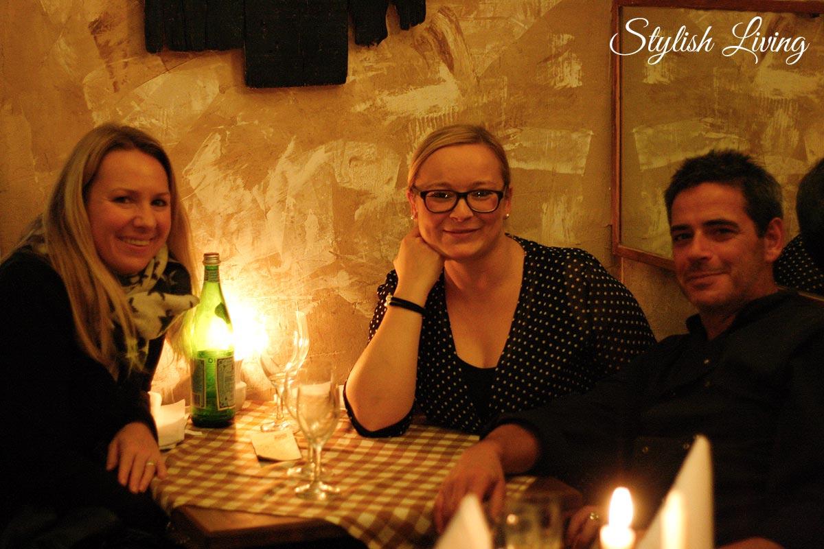 Kathrin, ich, Alfredo in der Casa Alfredo