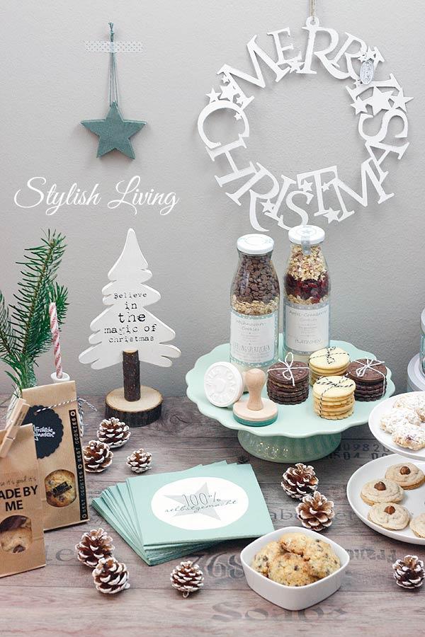 Sweet Table mit Weihnachtskeksen