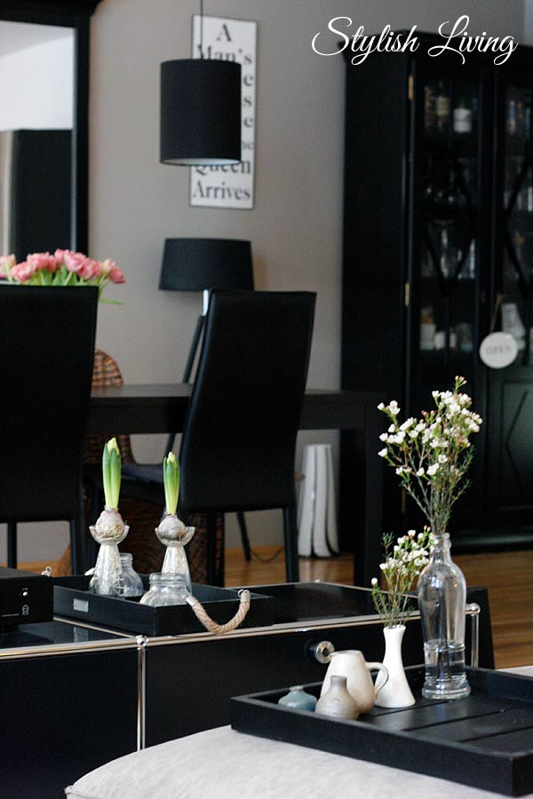 Frühlingsdeko Wohnzimmer