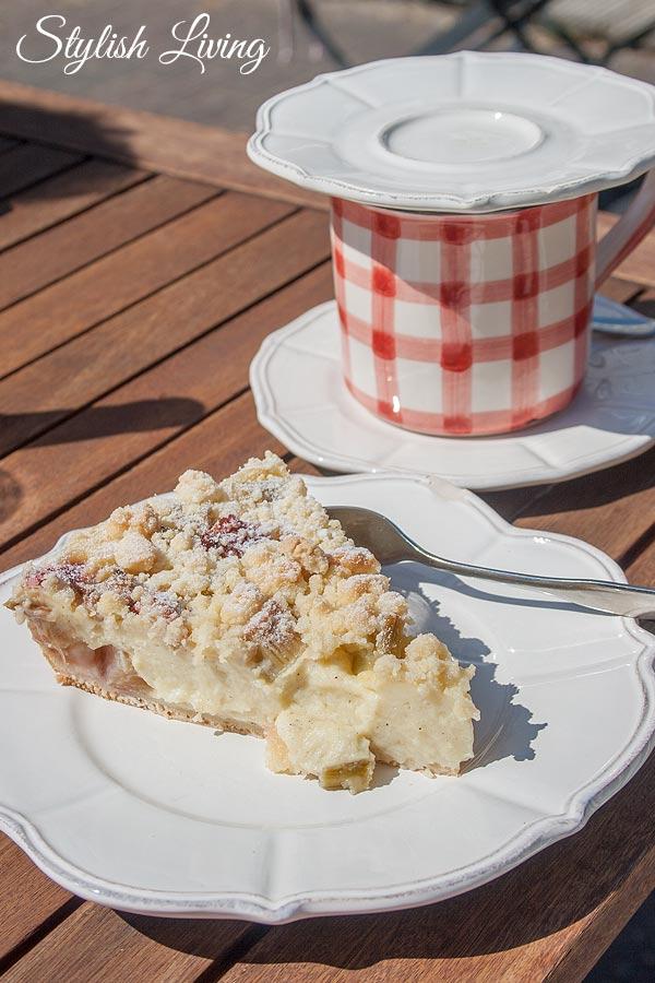 Rhabarberkuchen Tausendschön Cafe und Wohnideen