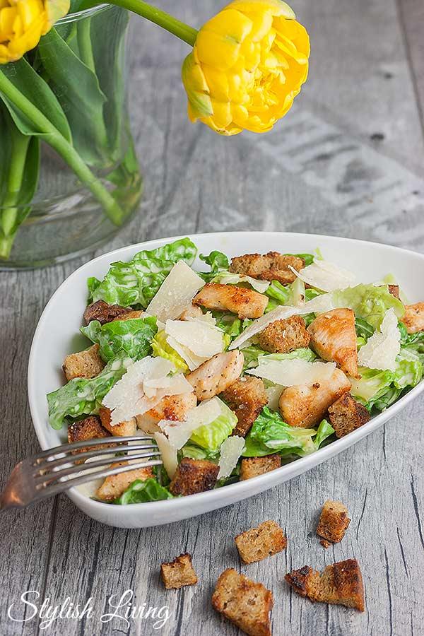 Caesar Salad mit Hühnchen