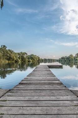 Bootssteg am Südsee in Braunschweig