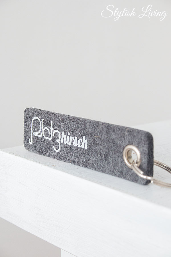Wollfilz-Schlüsselanhänger Platzhirsch