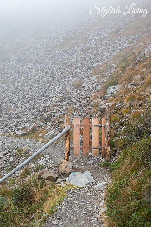 Tür auf dem Brixner Höhenweg