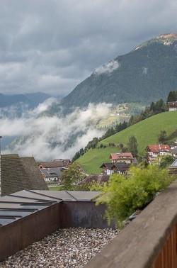Ausblick vom Balkon im Moosmair