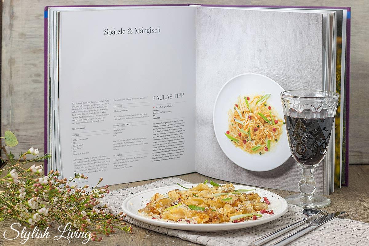 Käsespätzle aus Deutscher Wein und deutsche Küche