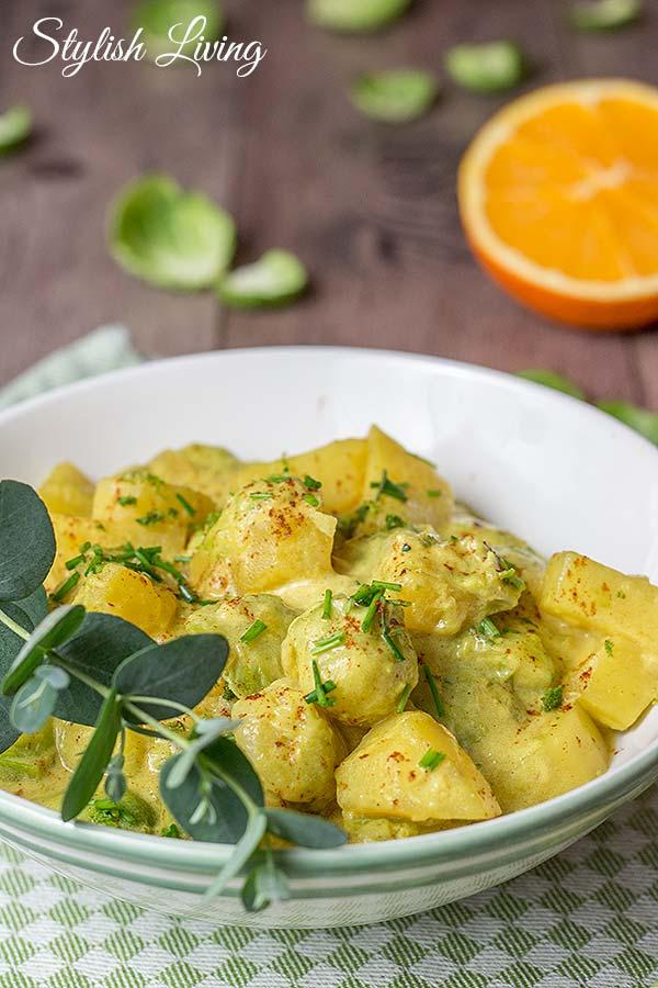 Curry mit Rosenkohl