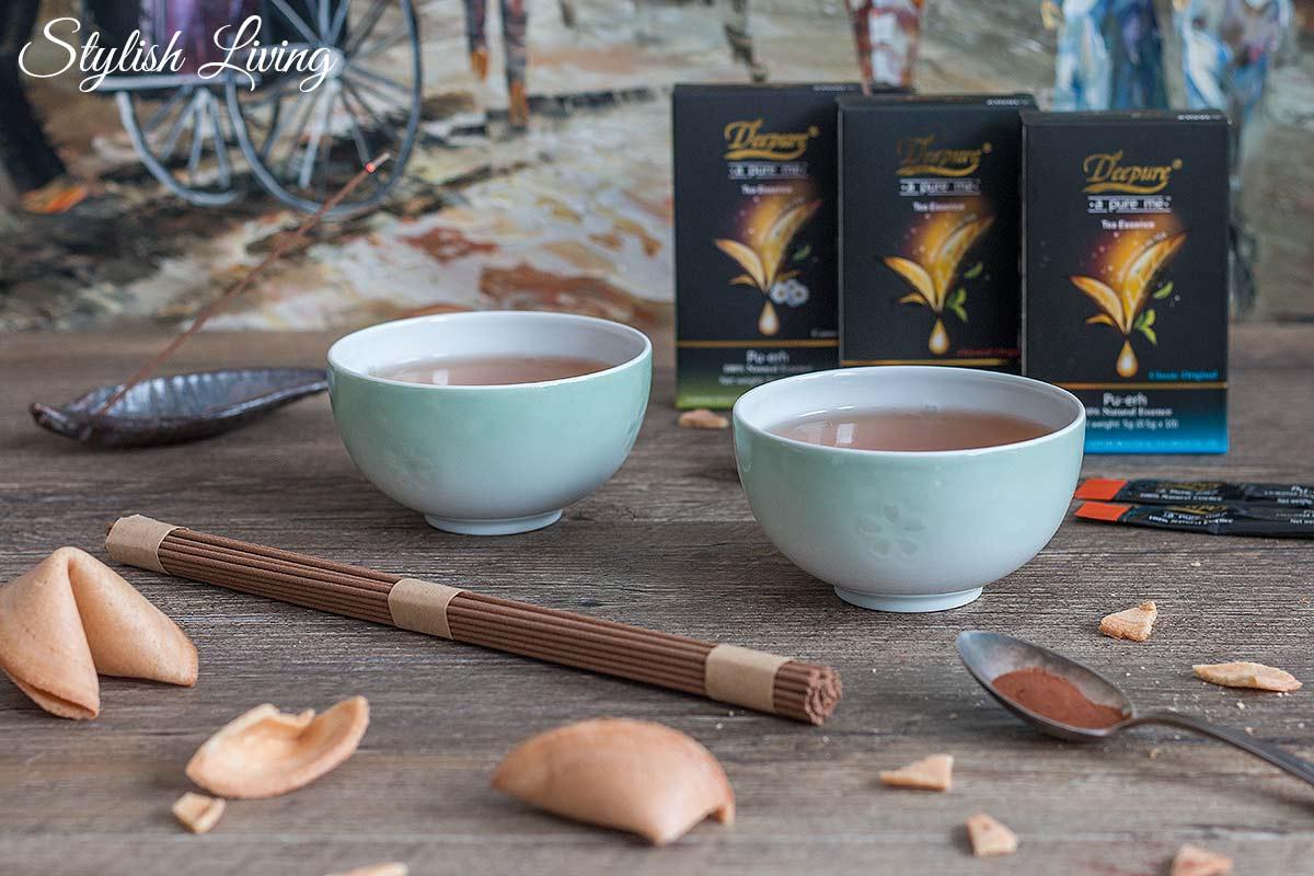 Deepure Tee mit Ingwertee verfeinert