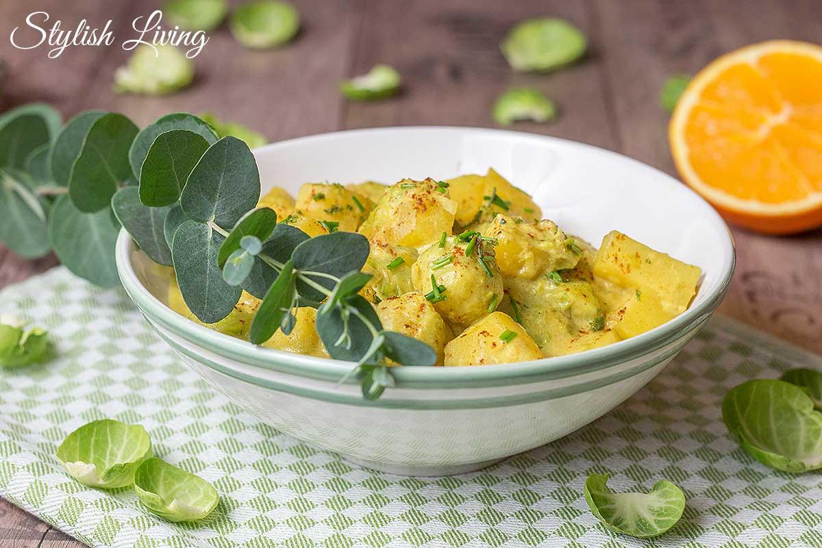 Kartoffel-Rosenkohl-Curry