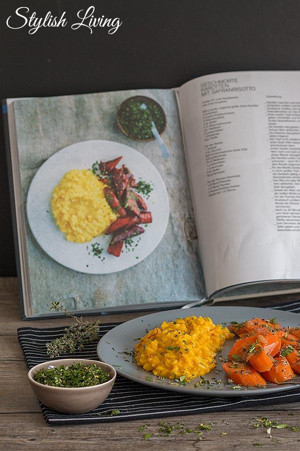 Geschmorte Karotten mit Safranrisotto von Barbara Bonisolli