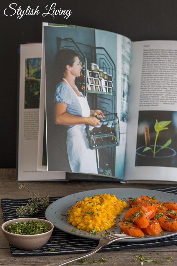 Safranrisotto mit geschmorten Karotten von Barbara Bonisolli