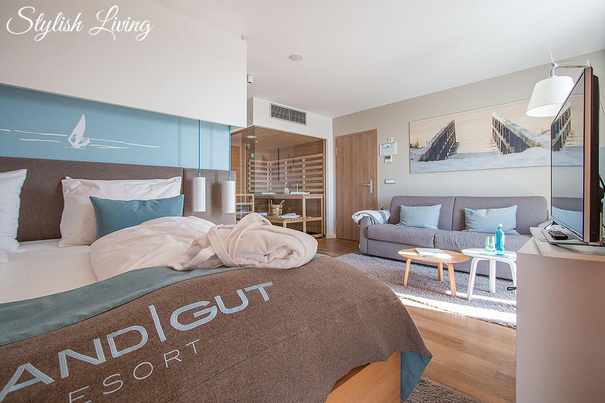 Strandgut Suite mit Sauna
