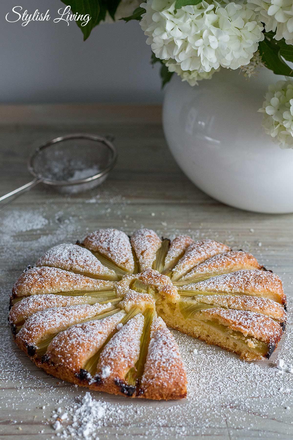 schneller Rhabarberkuchen