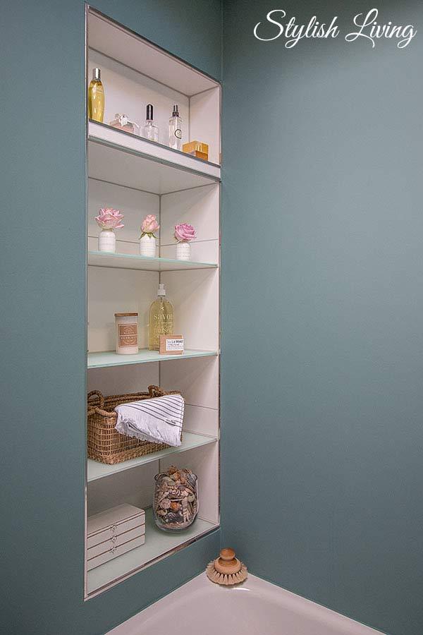 Badezimmerregal gemauert mit Petite Catrin Produkten