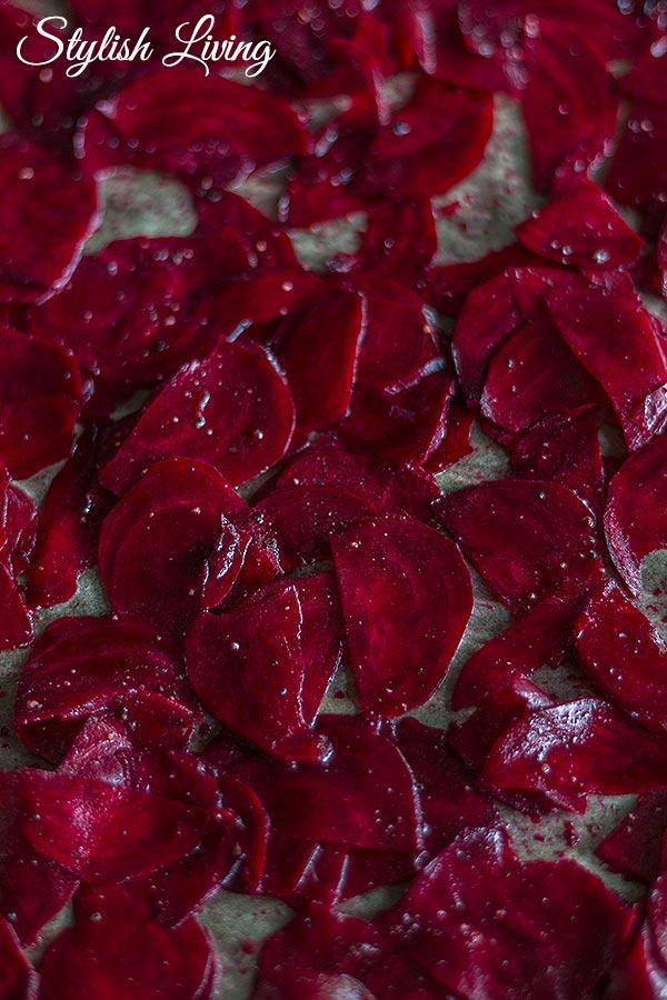 Rote Bete Chips vorbereiten mit Byodo Apfelessig