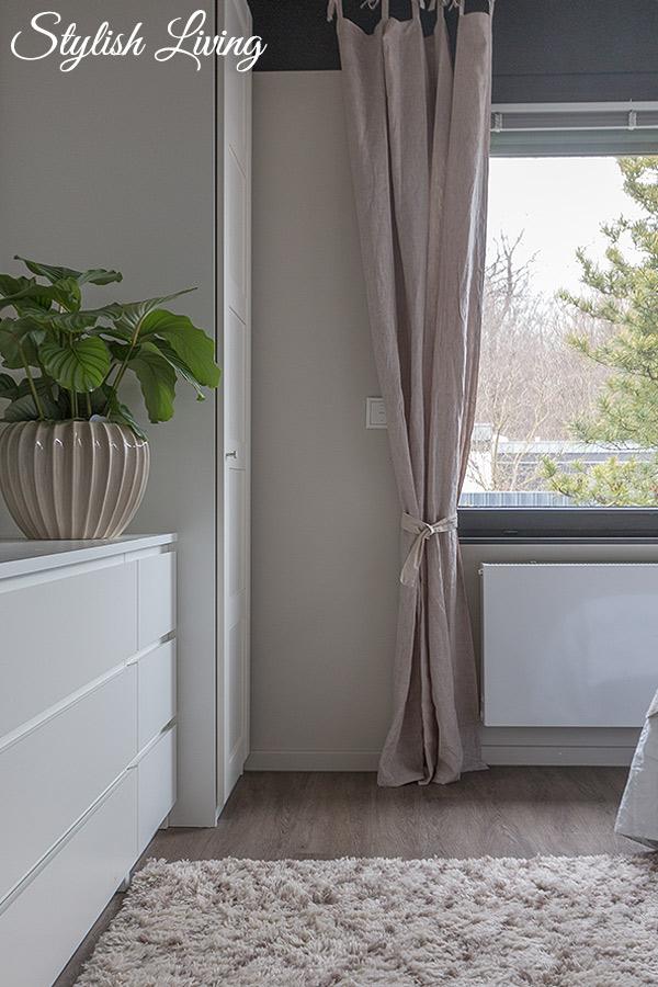 Schlafzimmer Makeover mit OTTO Leinenvorhängen